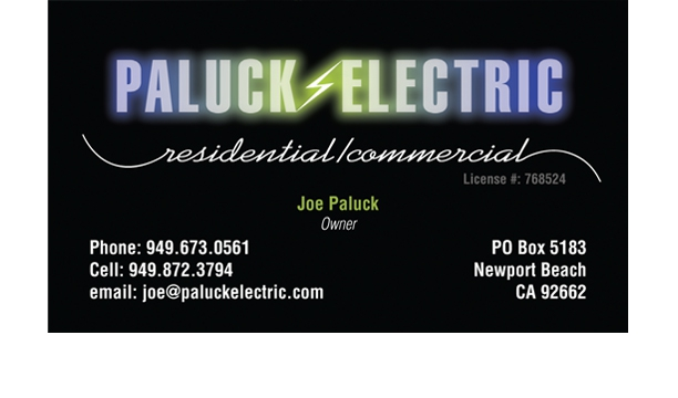Electrician's business card